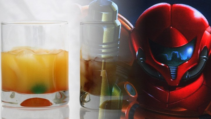 Classic (Game) Cocktail of the Week: Samus's Screw Attack