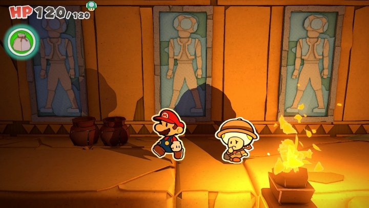 A loose leaf through Paper Mario: The Origami King
